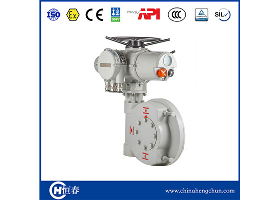 CKD Multi-turn Electric Actuator + Quarter-turn Gearbox